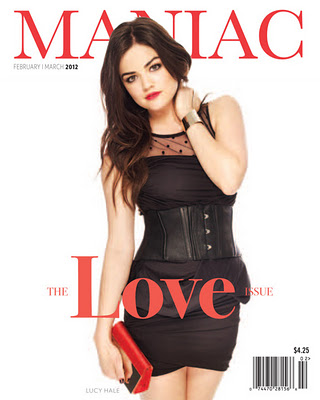 Maniac Magazine February 2012, Lucy Hale Pretty Little Liars Cover Shoot, Pittsburgh, April Hubal