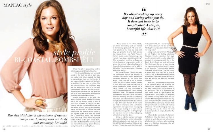 pamelyn mcmahon, maniac magazine 2012